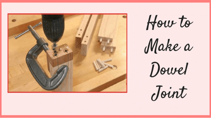 how to connect pieces of dowel