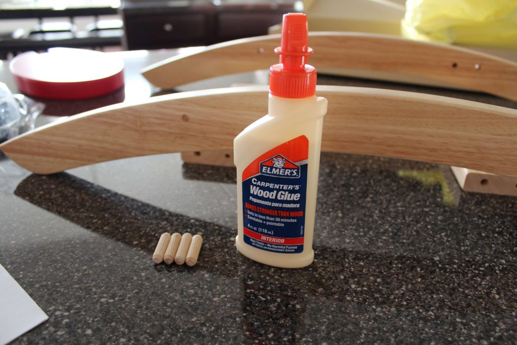 Glue the Dowel Screws
